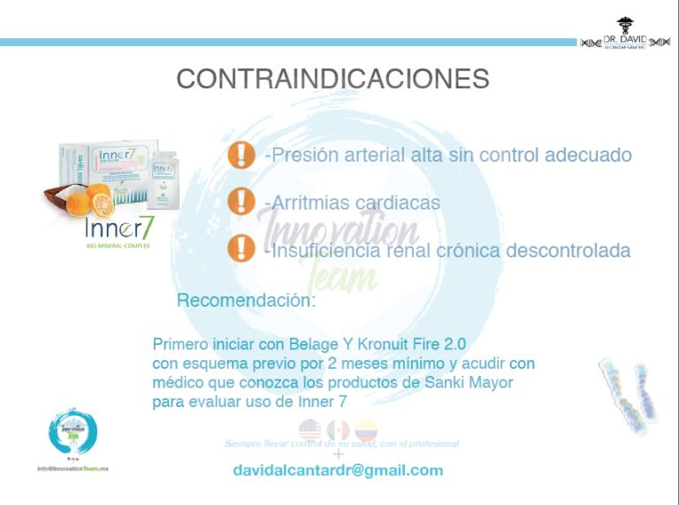 Contraindicaciones Inner7